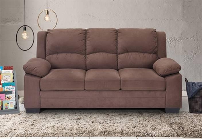 Royaloak Magna Fabric 3 Seater Sofa Finish Color Brown