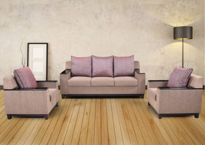 95bbef5c0ed RoyalOak Milan Fabric 3 + 1 + 1 Brown Sofa Set Price in India - Buy RoyalOak  Milan Fabric 3 + 1 + 1 Brown Sofa Set online at Flipkart.com