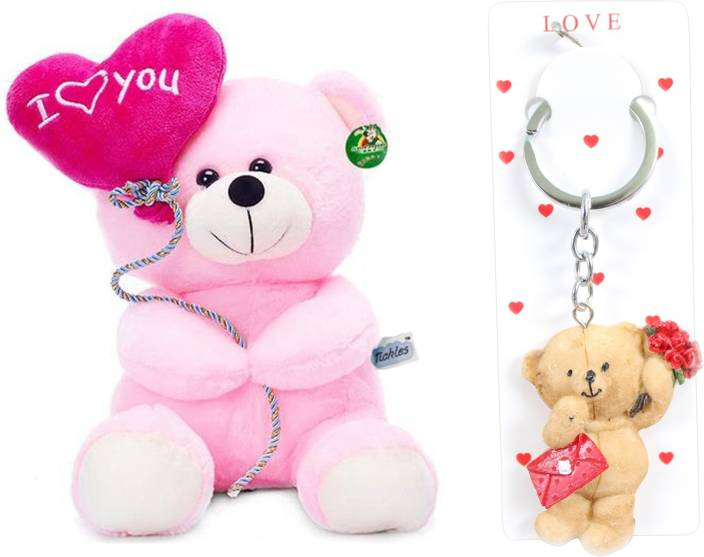 Tickles I Love You Balloon Heart Teddy Stuffed Soft Plush Toy And