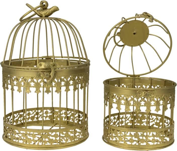 Avmart Home Decorative Designer Bird Cage With Hanging Iron Tealight