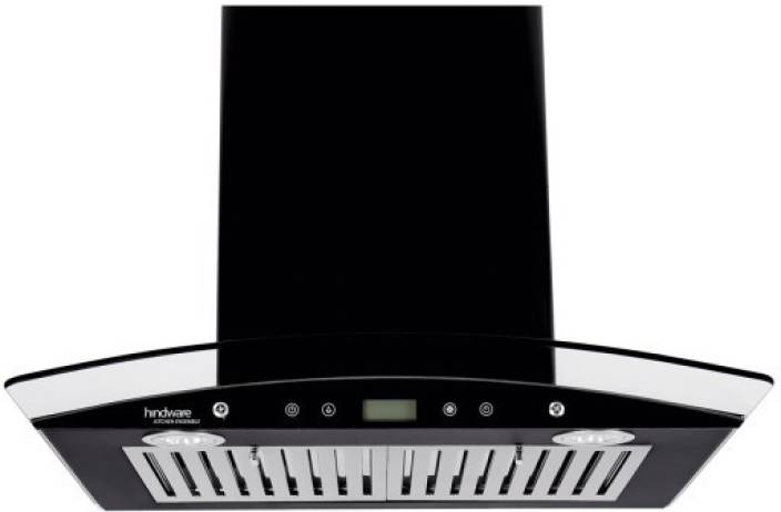 Hindware Kylis 60 Plus Chimney With Oil Collector Cup (600 mm, Black) Wall and Ceiling Mounted Chimney