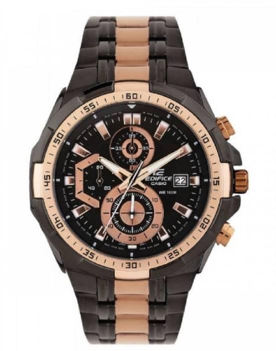 113584978e85 Edifice EFR 539 Rose gold EFR-539BKG-1AVUDF(EX220) Watch - For Men ...