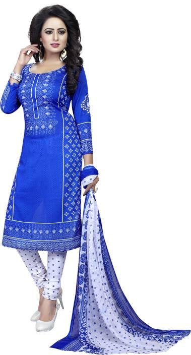 Tulsi Trendz Cotton Printed Semi-stitched Salwar Suit Dupatta Material, Semi-stitched Salwar Suit Material, Salwar Suit Material, Dress/Top Material, Suit Fabric