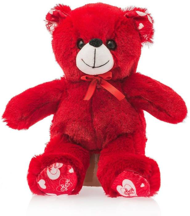 Dimpy Stuff Dimpy Bear Heart Patches Red  - 25 cm