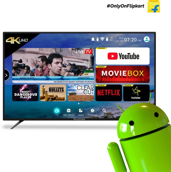CloudWalker 139 cm (55 inch) Ultra HD (4K) LED Smart TV