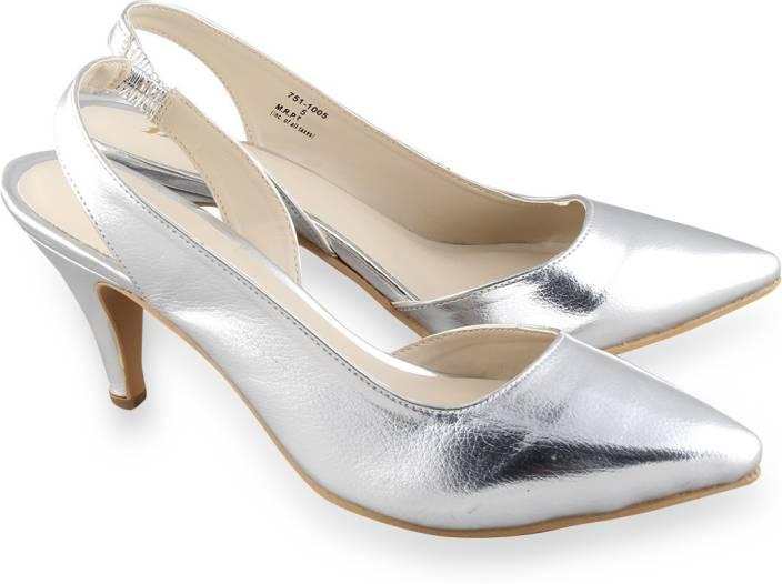 88174625575 Bata Women Silver Heels - Buy White Color Bata Women Silver Heels Online at  Best Price - Shop Online for Footwears in India