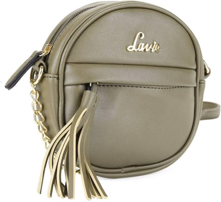 Lavie Women Casual Green PU Sling Bag