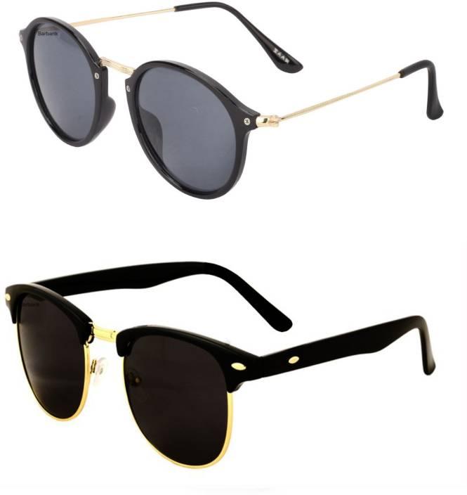 280cbaca1f8b Buy Barbarik Clubmaster Sunglasses Black