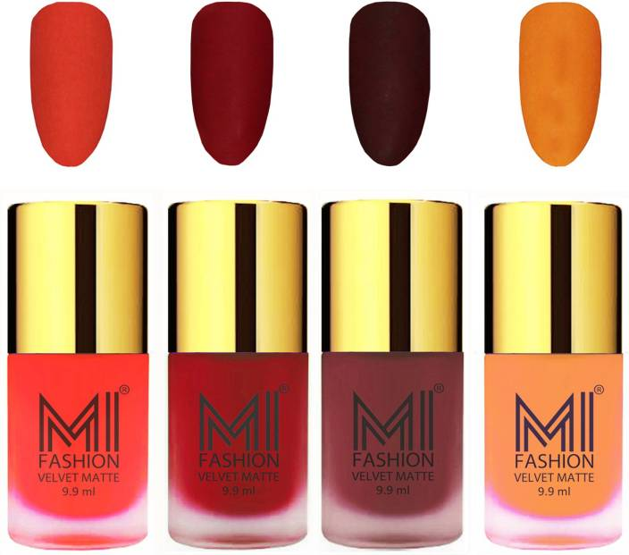 MI Fashion Premium Quality Dull Velvet Matte Nail Polish Duo Pont ...