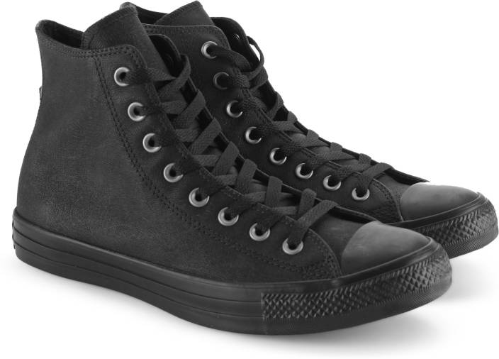 0c97c9c3e8 Converse All Star Leather Hi Sneakers For Men - Buy BLACK BLACK ...