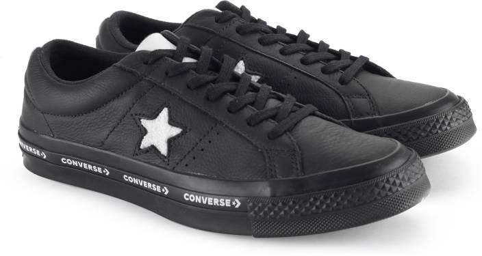 90422b3e39cd Converse One Star Ox Sneakers For Men - Buy BLACK WHITE BLACK Color ...