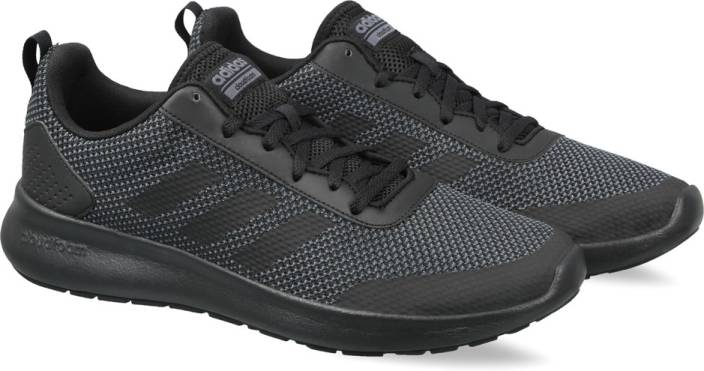 more photos 2ab8e 3fdfa ADIDAS ELEMENT RACE Running Shoes For Men (Black, White)