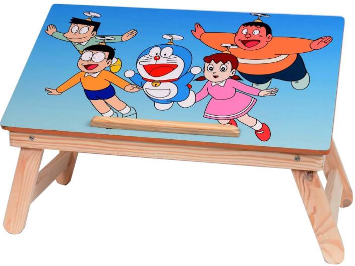 Kenzo Buy Again Cartoon Charachter Wooden high quality Multipurpose Table For Laptop/kids/ Study / Reading / Eating / Craft-work/Bed Table Solid Wood Portable Laptop Table (Finish Color - BLUE) Bamboo Portable Laptop Table