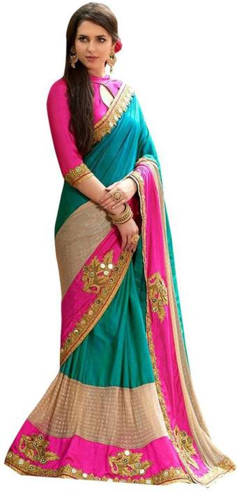 Online Bazaar Embellished Fashion Art Silk Saree
