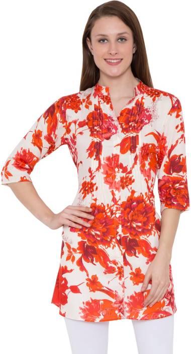 Hive91 Floral Print Women Tunic