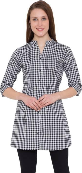 HIVE91 Checkered Women Tunic