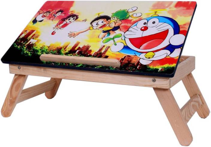 Buy Again Cartoon Charachter Wooden high quality Multipurpose Table For Laptop/ Study / Reading / Eating / Craft-work/Bed Table Bamboo Portable Laptop Table