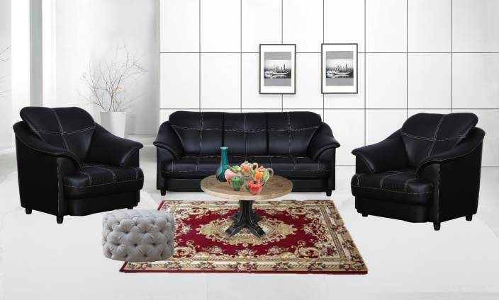 Cloud9 Titanic Leatherette 3 1 1 Black Sofa Set Price In India