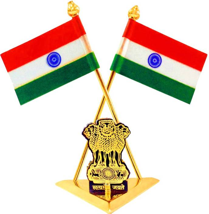7b7ee73415 Capeshoppers indian flag Triangle Car Dashboard Flag Flag (Metal, Plastic,  Paper)