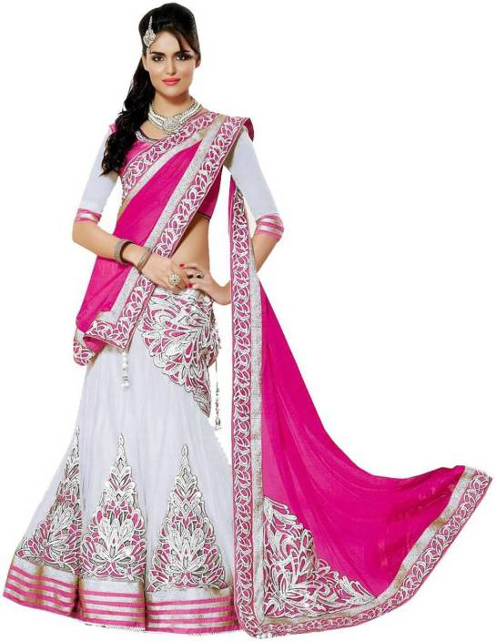 MF Retail Cotton Embroidered Semi-stitched Salwar Suit Dupatta Material