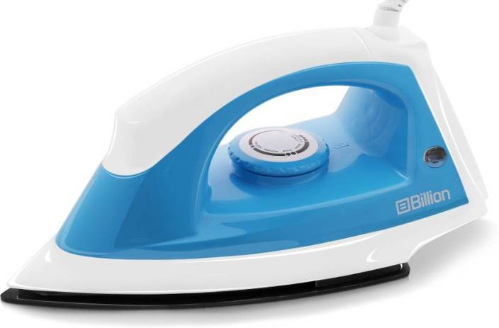 Billion 1100 W Non-stick Extra-power XR112 Dry Iron  (White and Sky Blue)