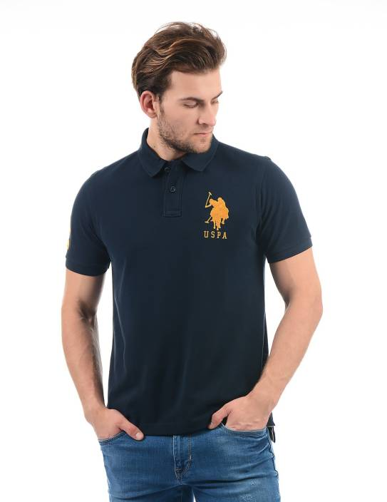 sPolo Dark Blue Buy Men Neck Assn Solid Shirt U T Nn0m8w