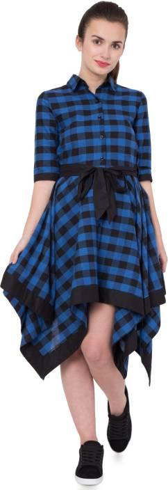 Hive91 Women Wrap Blue Dress