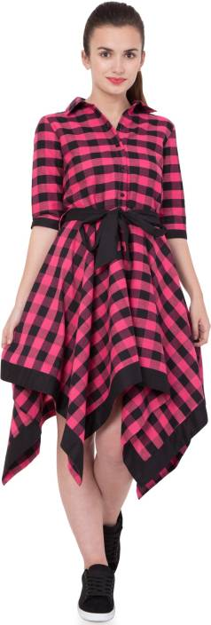 Hive91 Women Wrap Pink Dress