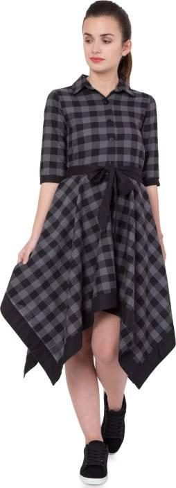 Hive91 Women's Wrap Grey Dress