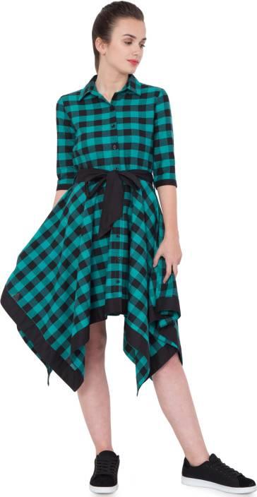 Hive91 Women's Wrap Green Dress