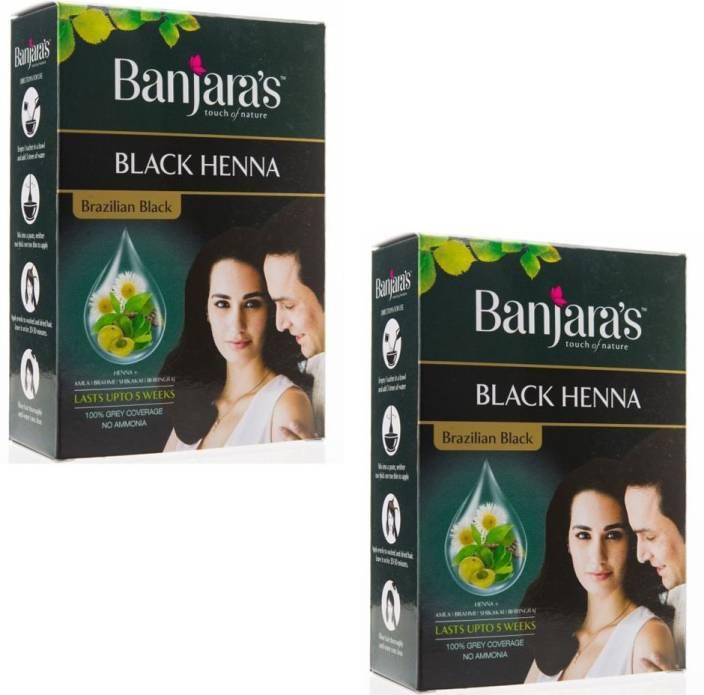 d8bc8ada6fe42 Banjara's Black Henna (Pack of 2) Brazilian Black Hair Color - Price ...