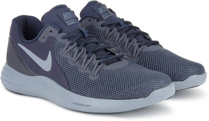 new product a39ac 6182a Nike LUNAR APPARENT Running Shoes For Men (Blue)