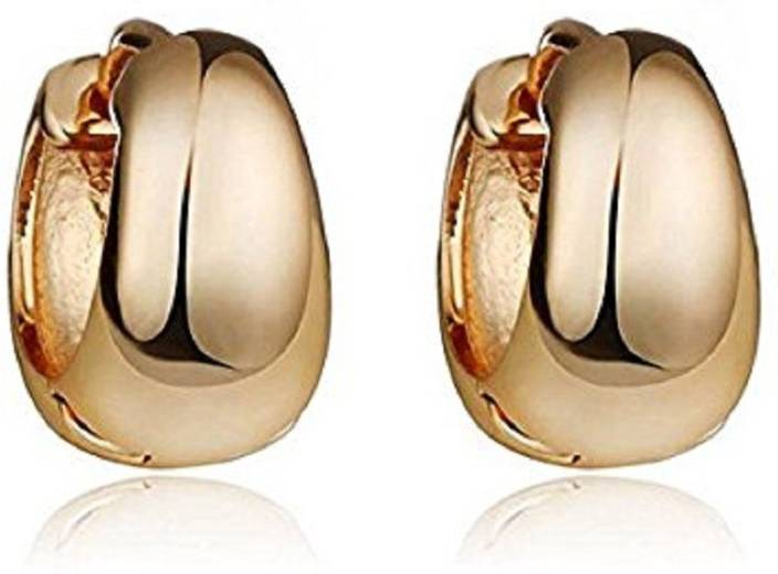9b9a7a1da Flipkart.com - Buy GadgetsDen Classic Design Gold Plated Small Simple Round  kaju Bali Earring Charm Jewelry Wedding Hoop Earrings Men Stainless Steel  Stud ...