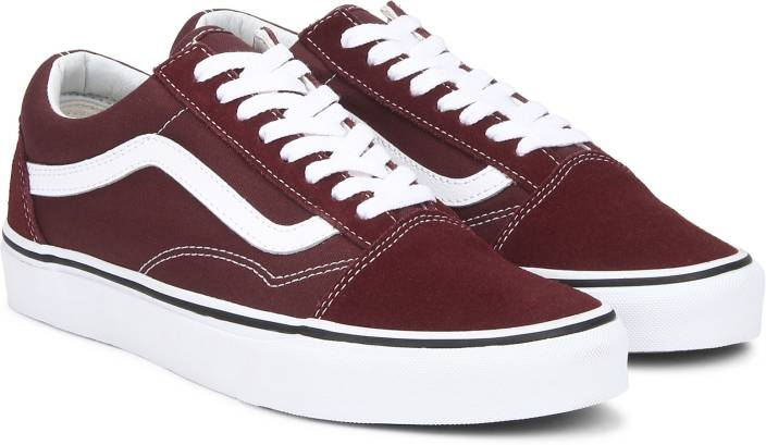 6aa596f66179 Vans Old Skool Sneakers For Men - Buy Maroon Color Vans Old Skool ...