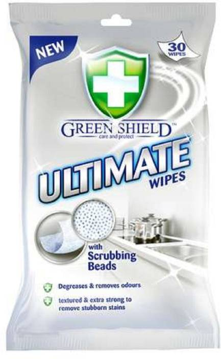 Green Shield Ultimate Wipes With Scrubbing Texture