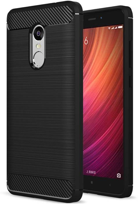 Flipkart SmartBuy Back Cover for Mi Redmi Note 4 (Metallic Black, Shock Proof, Rubber)