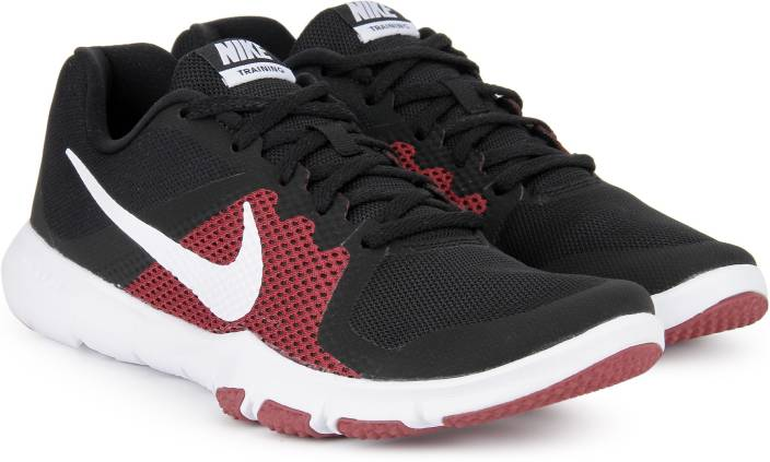 8d88d3e892f0 Nike FLEX CONTROL Training Shoes For Men - Buy BLACK WHITE-TOUGH RED ...