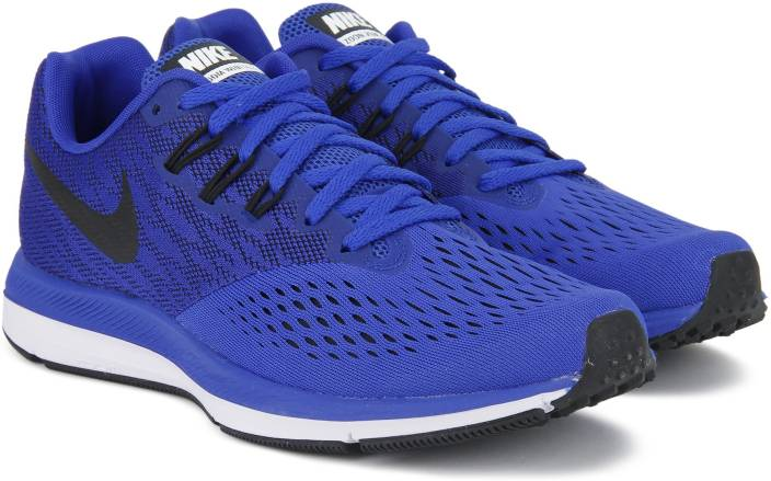 795ecd7c1e24 Nike ZOOM WINFLO 4 Running Shoes For Men - Buy RACER BLUE BLACK ...