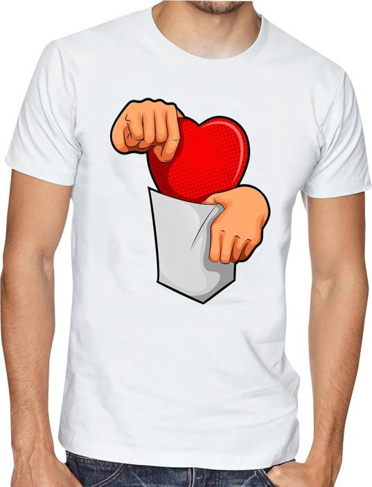 Casotec Graphic Print Men Round Neck White T-Shirt