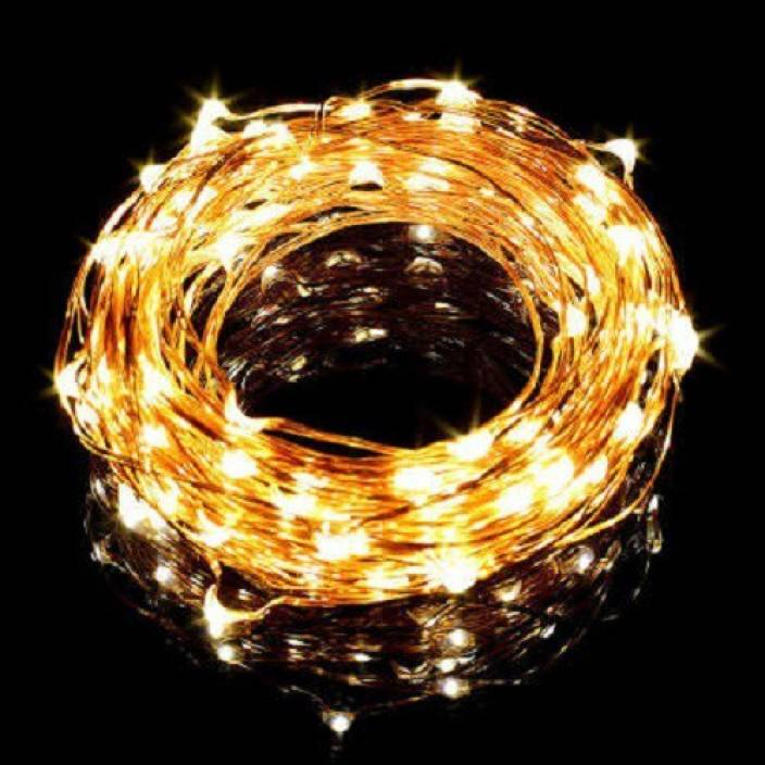 Copper String Led Light 5 Mtr 50 Usb Operated Decorative Lights 208 66 Inch Yellow Rice Pack Of 1