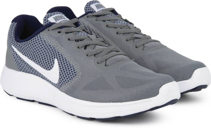 04e24def06e Nike REVOLUTION 3 Running Shoes For Men - Buy COOL GREY WHITE-BINARY ...