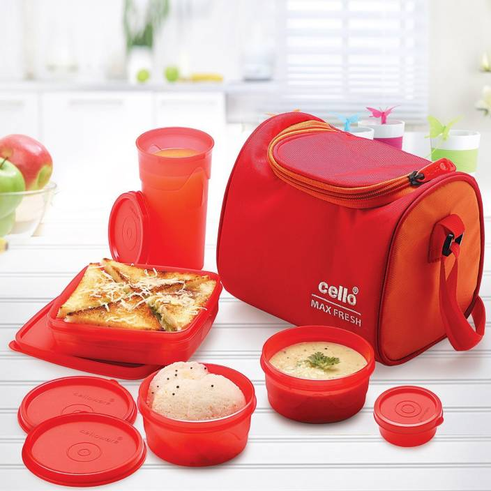 d4cb57515034 Cello Max Fresh Sling 5 Container Lunch Box With Bag 5 Containers Lunch Box  (1100 ml)