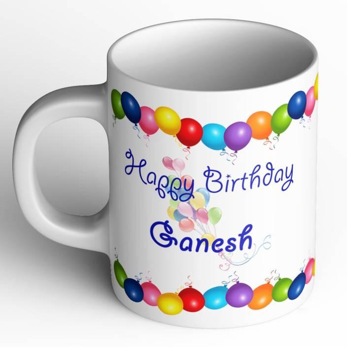 Abaronee Happy Birthday Ganesh B001 Ceramic Mug Price In India Buy