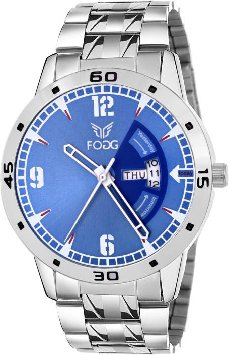 Fogg 2048-BL Day and Date Watch - For Men