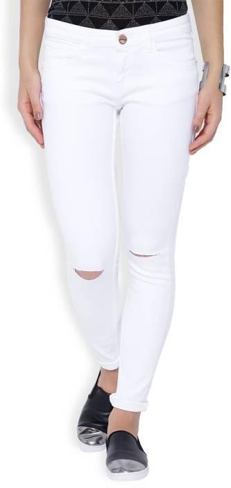 Tokyo Talkies Skinny Women's White Jeans - Buy Tokyo Talkies ...