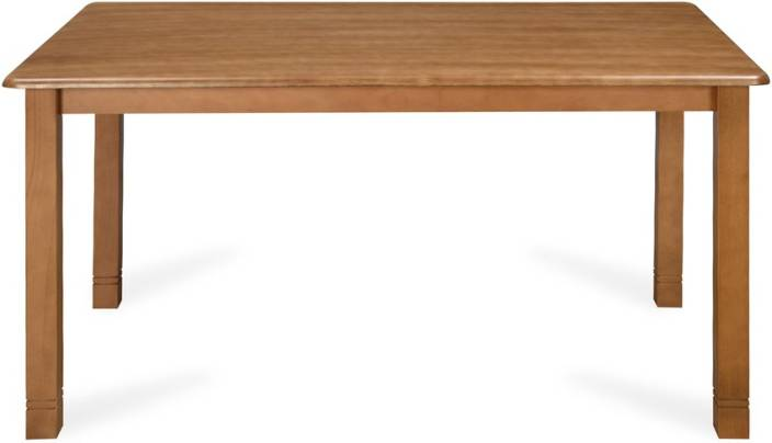 @home by Nilkamal Roosey Solid Wood 6 Seater Dining Table