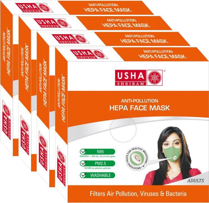 Usha Shriram Air Mask Adult Face Mask (pack of 4) FM-1895-A4 Mask and Respirator