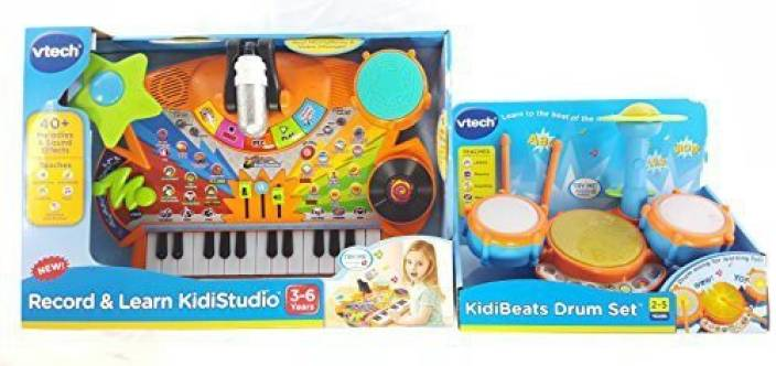 08cc939d8 Generic Vtech Musical Toys Bundle Kidibeats Drum Set And Record And Learn  Kidistudio (Multicolor)