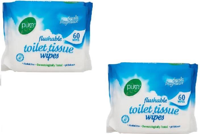 Pure Flushable Toilet Tissue Wipes