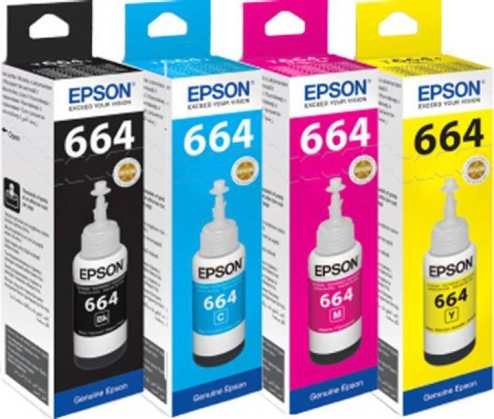 Epson Epson T664 Series For Epson L 120 L220 L360 Multi Color Ink Cartridge